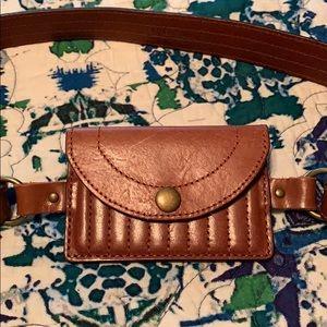 Accessories - Gorgeous tan Leather belt bag large adjustable